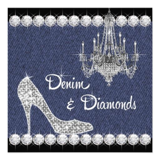 Denim and diamonds clipart.