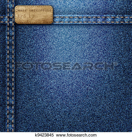 Clipart of Denim background k9423845.