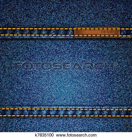 Clipart of Realistic vector denim background. k7835100.