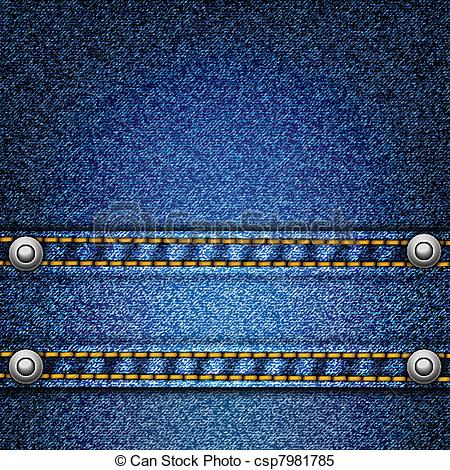 Clipart Vector of Realistic vector denim background..