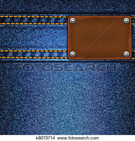 Clipart of Realistic vector denim background. k8073714.