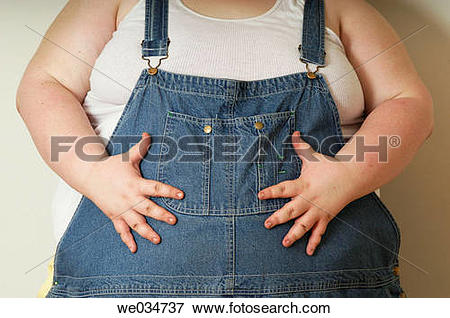 Picture of body, fat, Female, hand we034737.