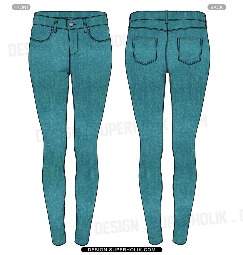 Skinny Jeans Clipart.