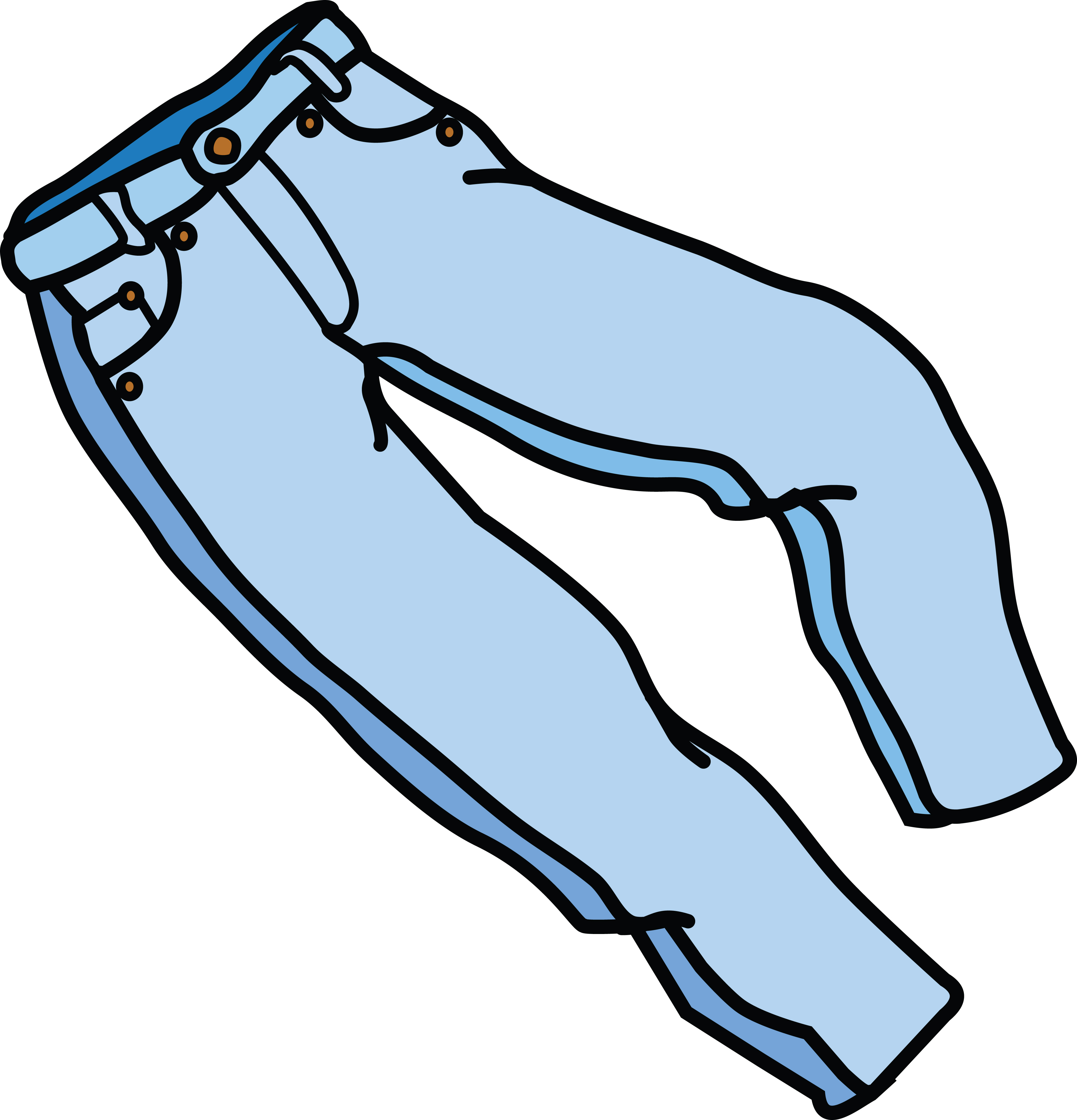 Free Clipart Of A pair of jeans.