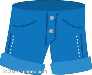 Clip Art of Jean Shorts.