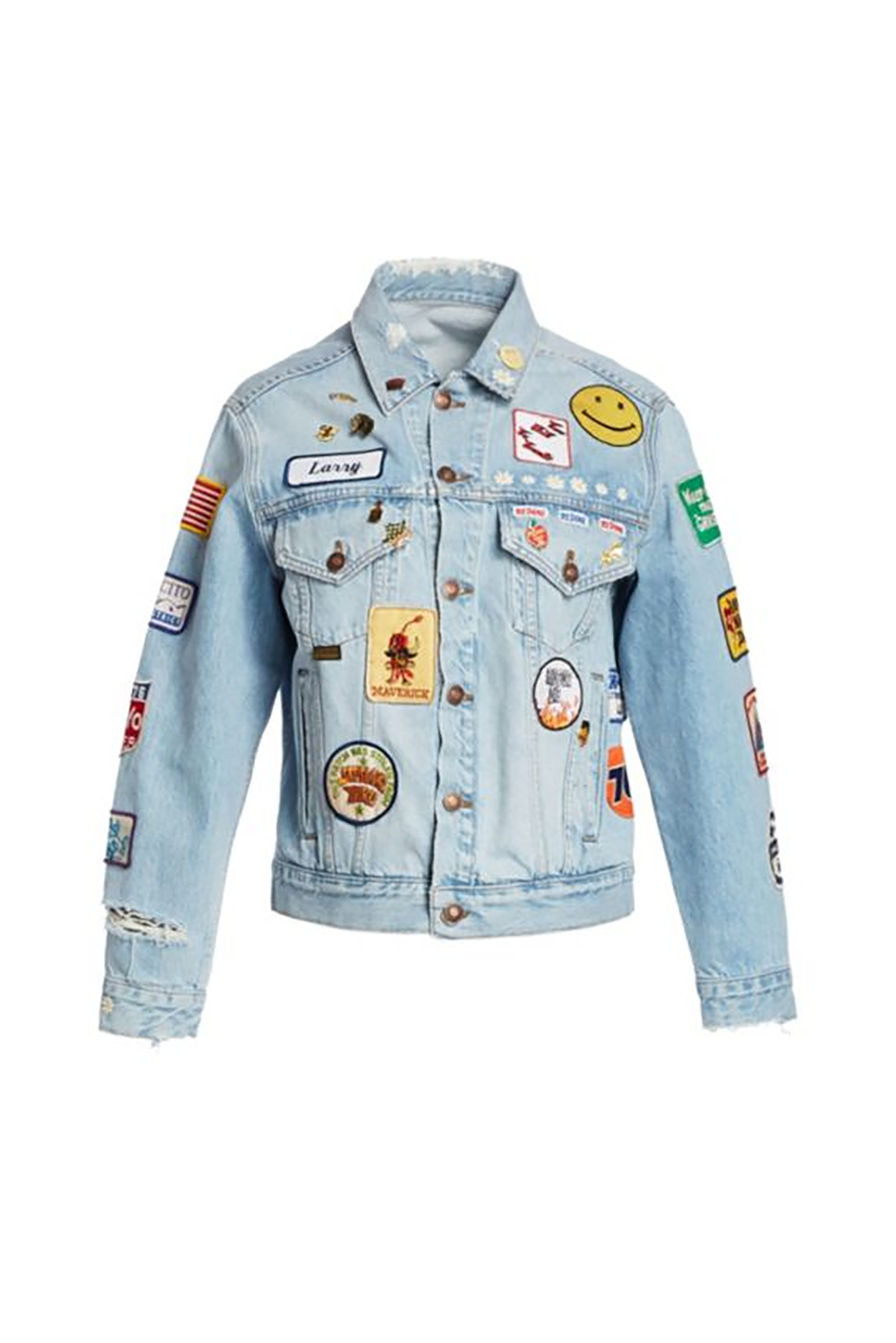Oversized Patch Trucker Jean Jacket.