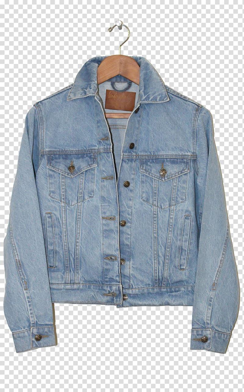 Jean jacket Denim Jeans Fashion, jacket transparent background PNG.