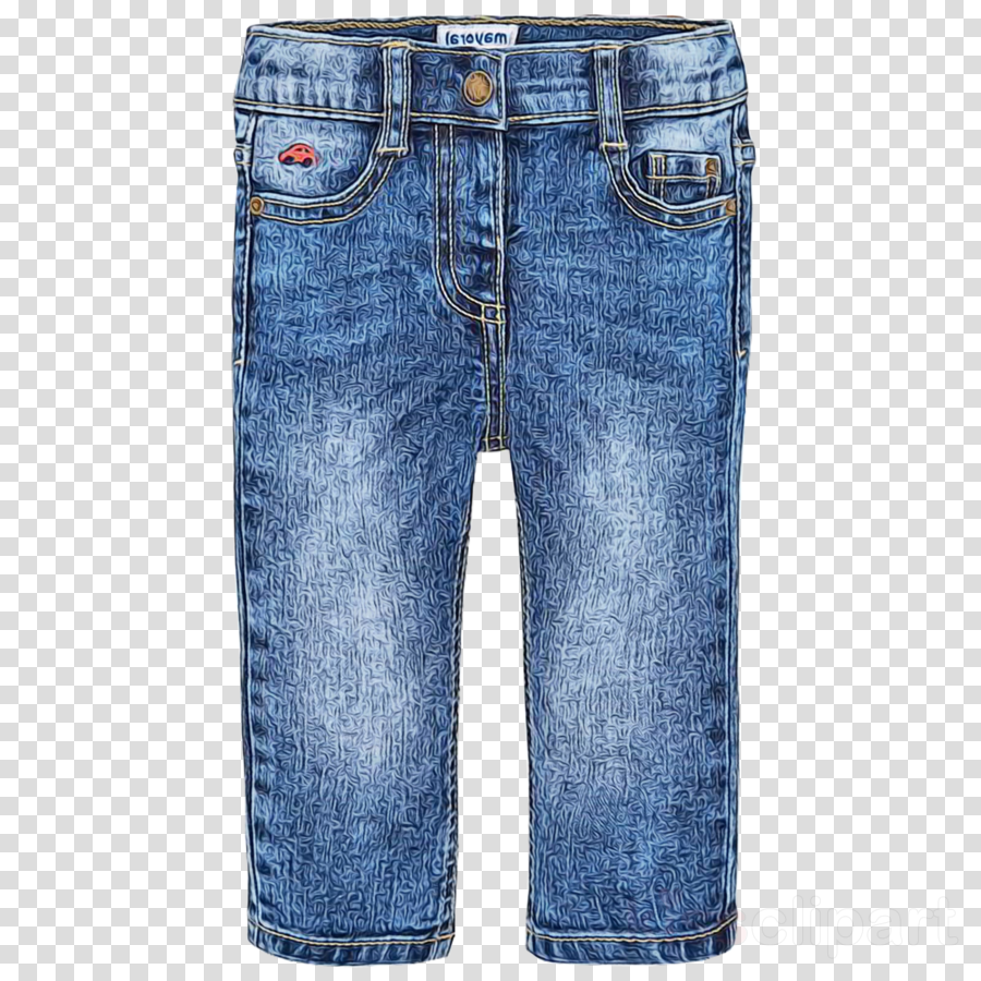 denim jeans clothing blue white clipart.