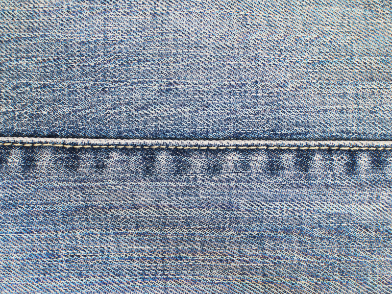 Blue Jeans Stitched Seam Texture Free (Fabric).