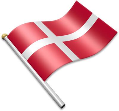 Flag Icons of Denmark.