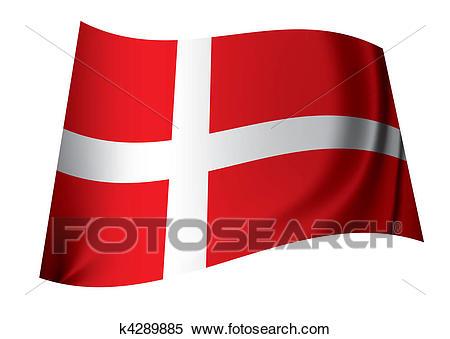 Danish flag Clipart.