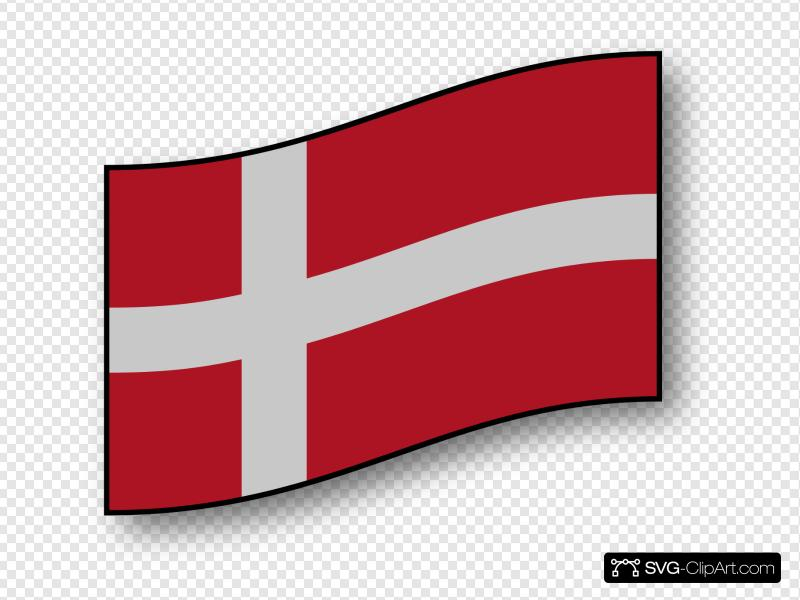 Denmark Flag Clip art, Icon and SVG.