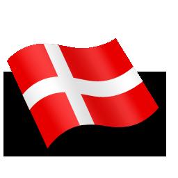 Danmark Denmark Flag Icon.