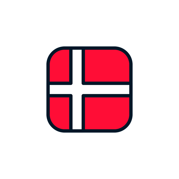 Denmark Icon Flag.