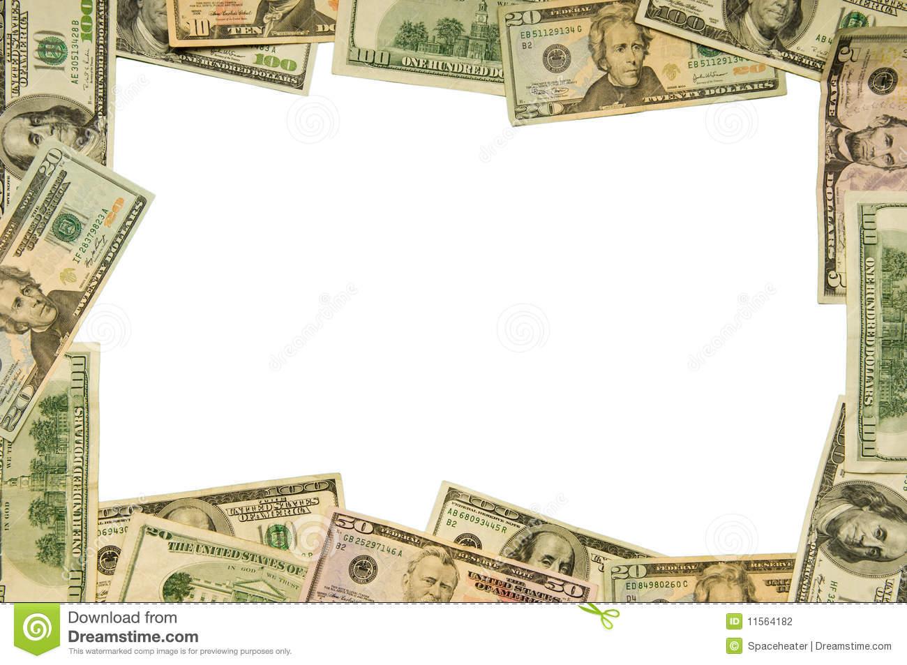 Money border clip art.