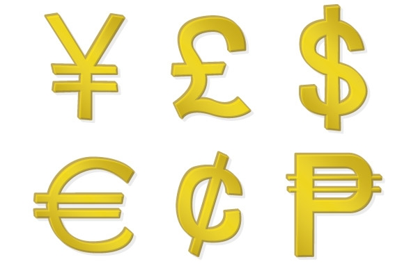 Denomination Symbols Clipart.