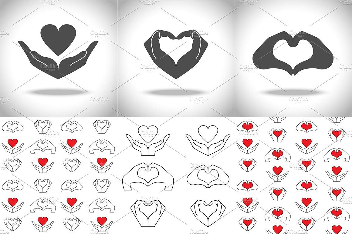 Love and Health Icons Set , #affiliate, #elements#Vector.