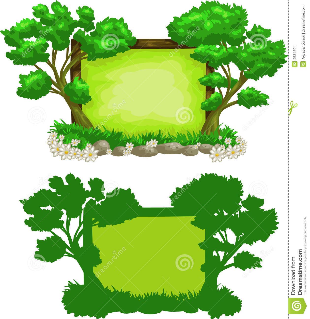 Dense Forest Clip Art.