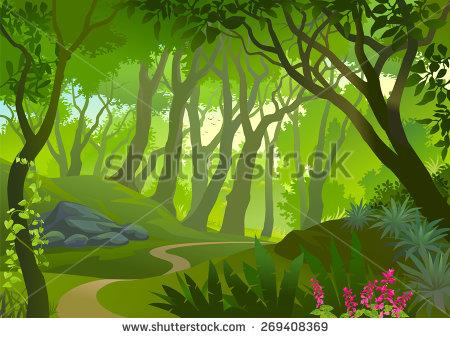 Dense forest clipart.