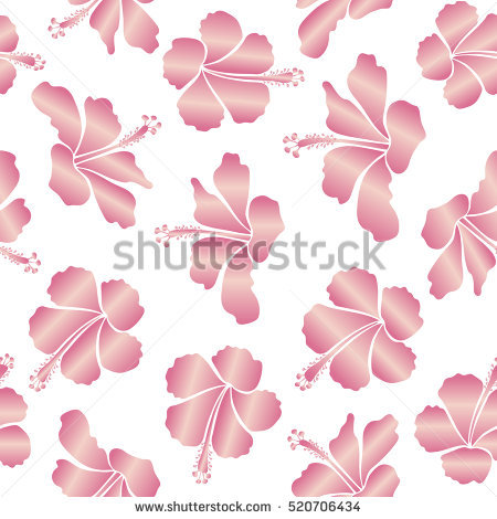 Seamless Background Pattern Pink Sakura Blossom Stock Vector.
