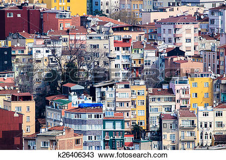 Stock Photo of Densely populated houses k26406343.