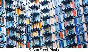Stock Photo of Densely populated houses.