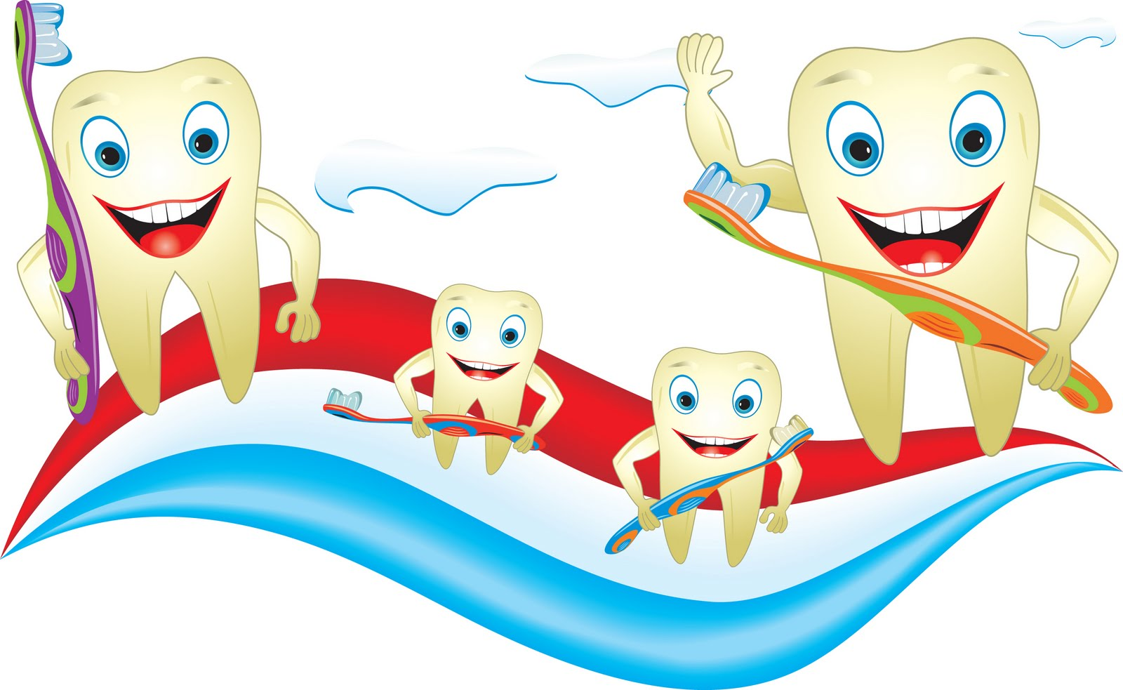 Dental Care For Children Clipart.