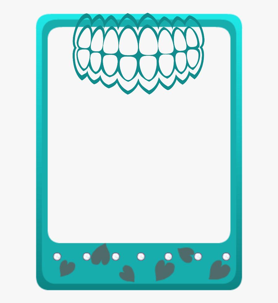 Mq Green Teeth Frames Border Borders Clipart , Png.