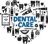 Clip Art of , teeth, cartoon, dental, dentist, tooth, toothbrush.