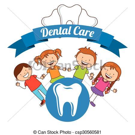 Vector of children dental care design, vector illustration eps10.