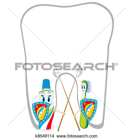 Clipart of Protection against dental caries k8549114.