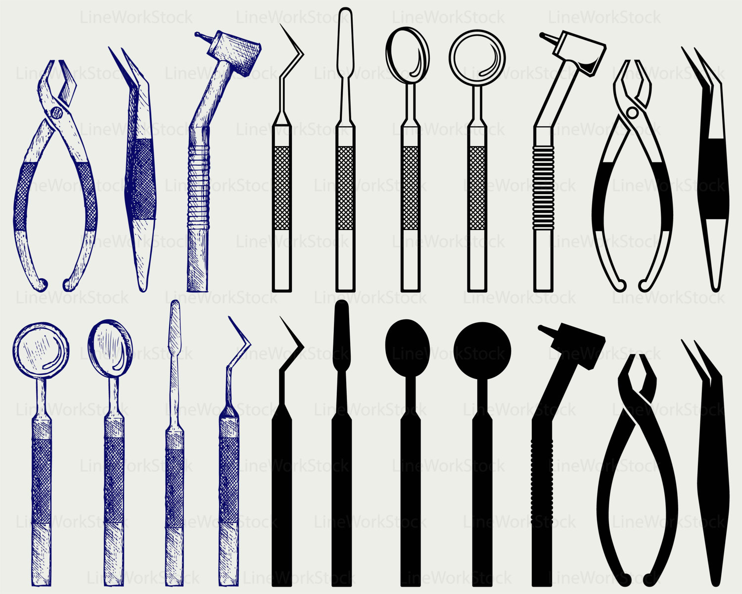 Dental equipment svg,dental clipart,dental svg,dental silhouette.