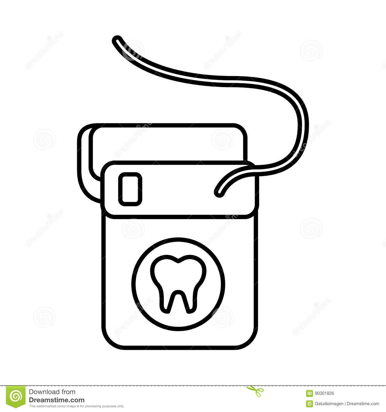 Dental floss icon stock vector. Illustration of health.