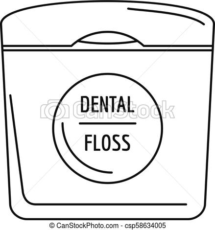 Dental floss icon, outline style.
