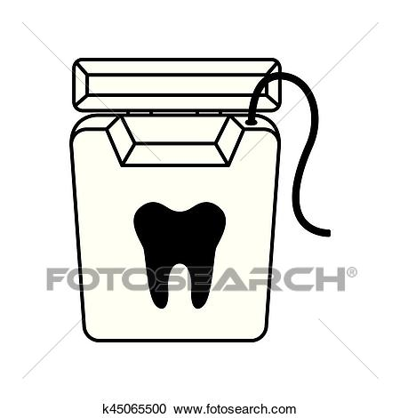 Dental floss isolated icon Clipart.