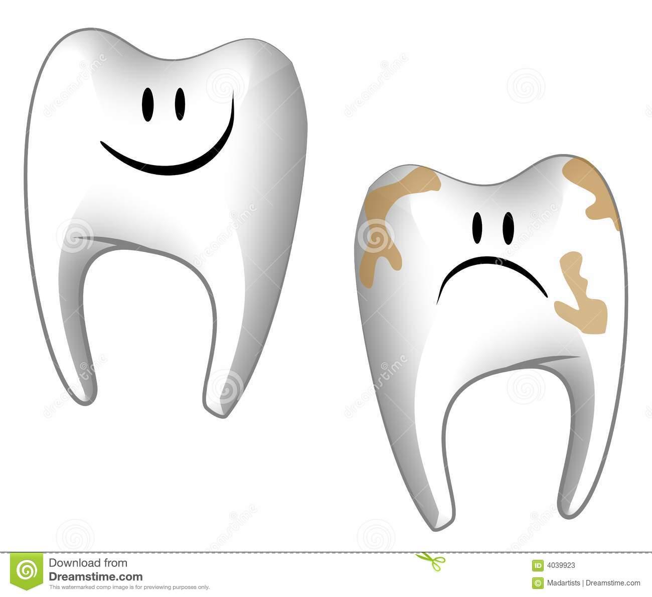 Cartoonish Teeth Dental Care Stock Illustration.
