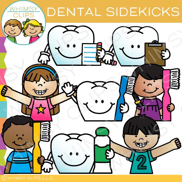 Dental Health Sidekicks Clip Art.