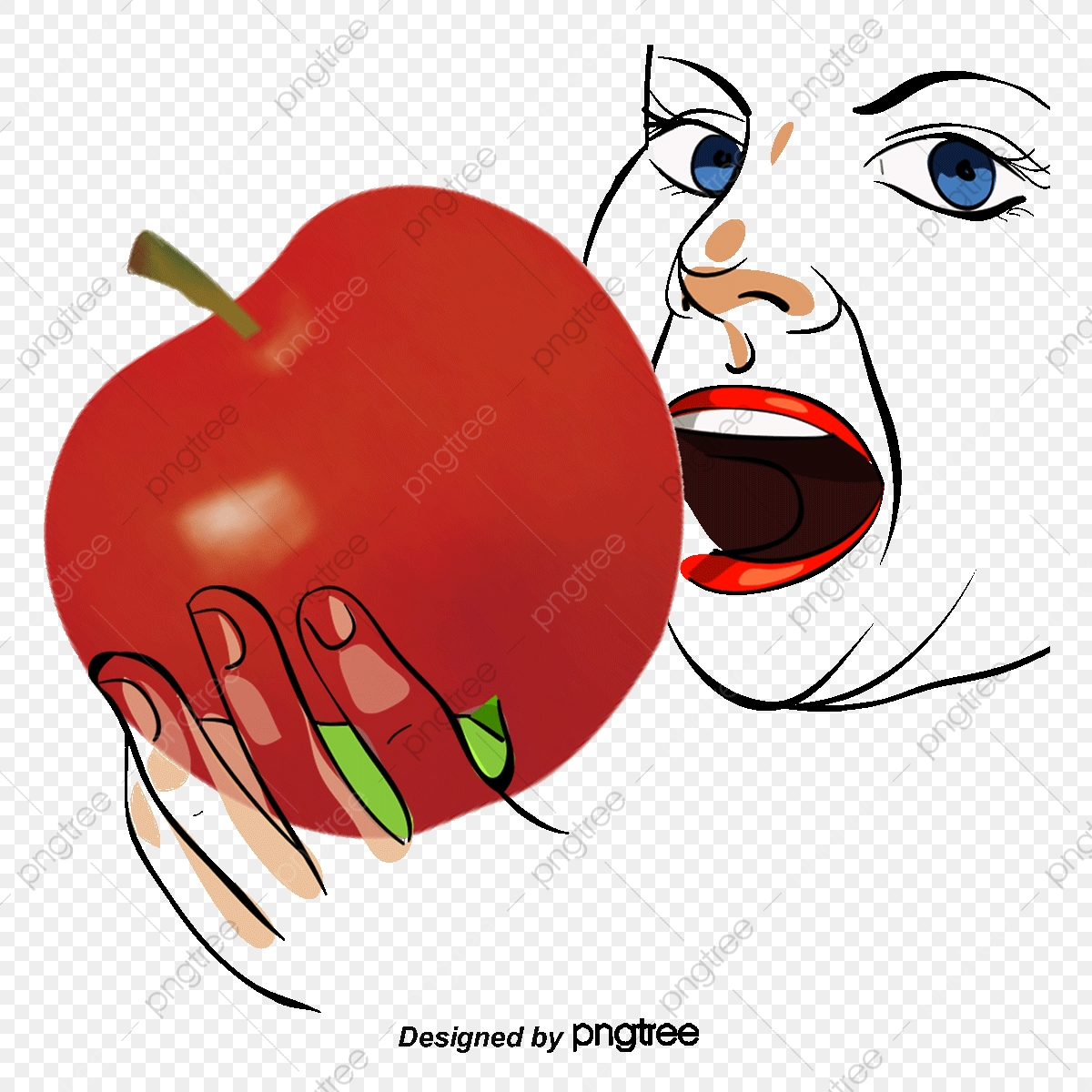 Dental Health Eating Apple, Health Clipart, Apple, Health PNG.