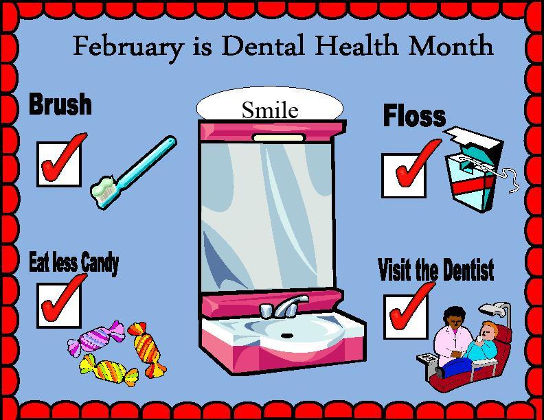 Clip Art Dental Health Month Clipart.