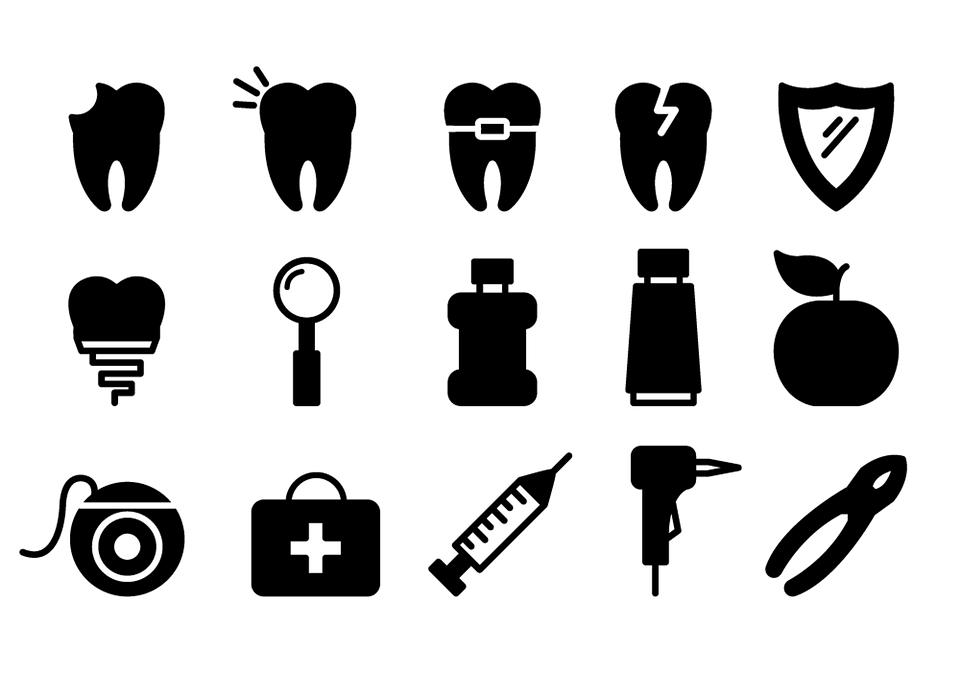 Dental Icons Dentist Tooth.