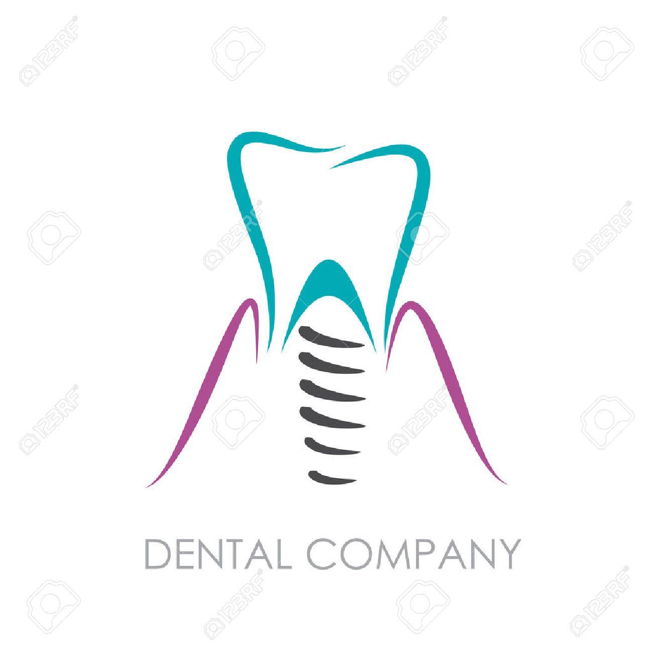 Vector sign Dental implant.
