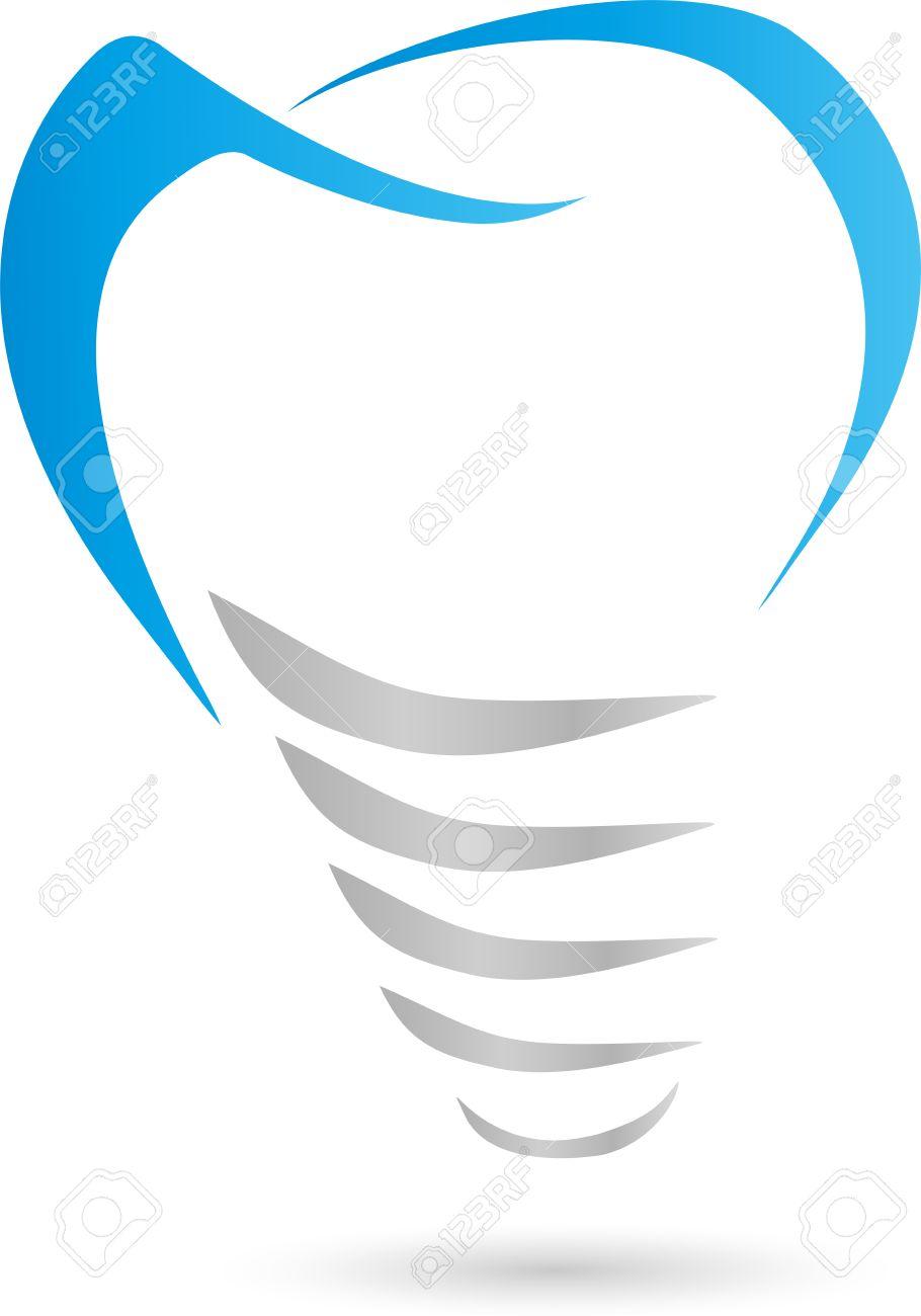 Tooth, dental implant, dental, logo.
