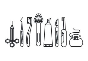 Dental Instrument Free Vector Art.