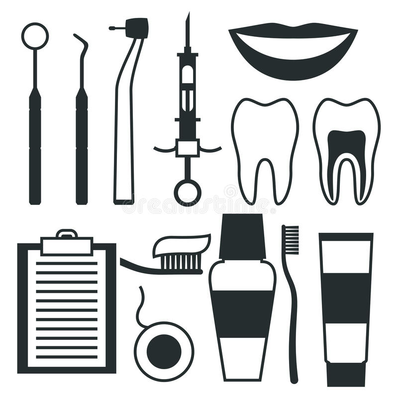 Dental Equipment Stock Illustrations.