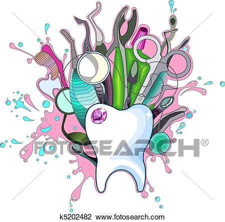 Dental Instruments Clipart.