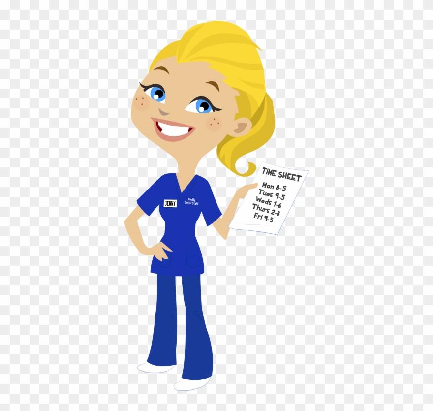 Nurse Clipart Blonde Hair.