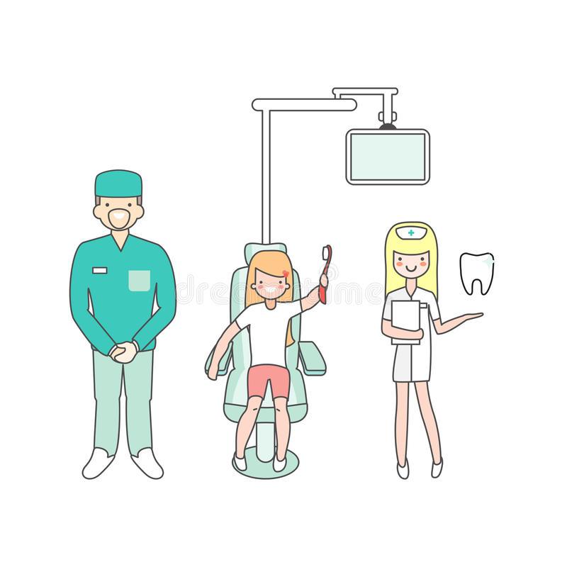 Dental Nurse Stock Illustrations.