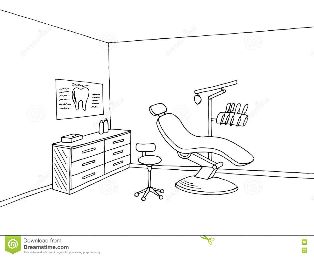 Dentist Office Stock Illustrations.