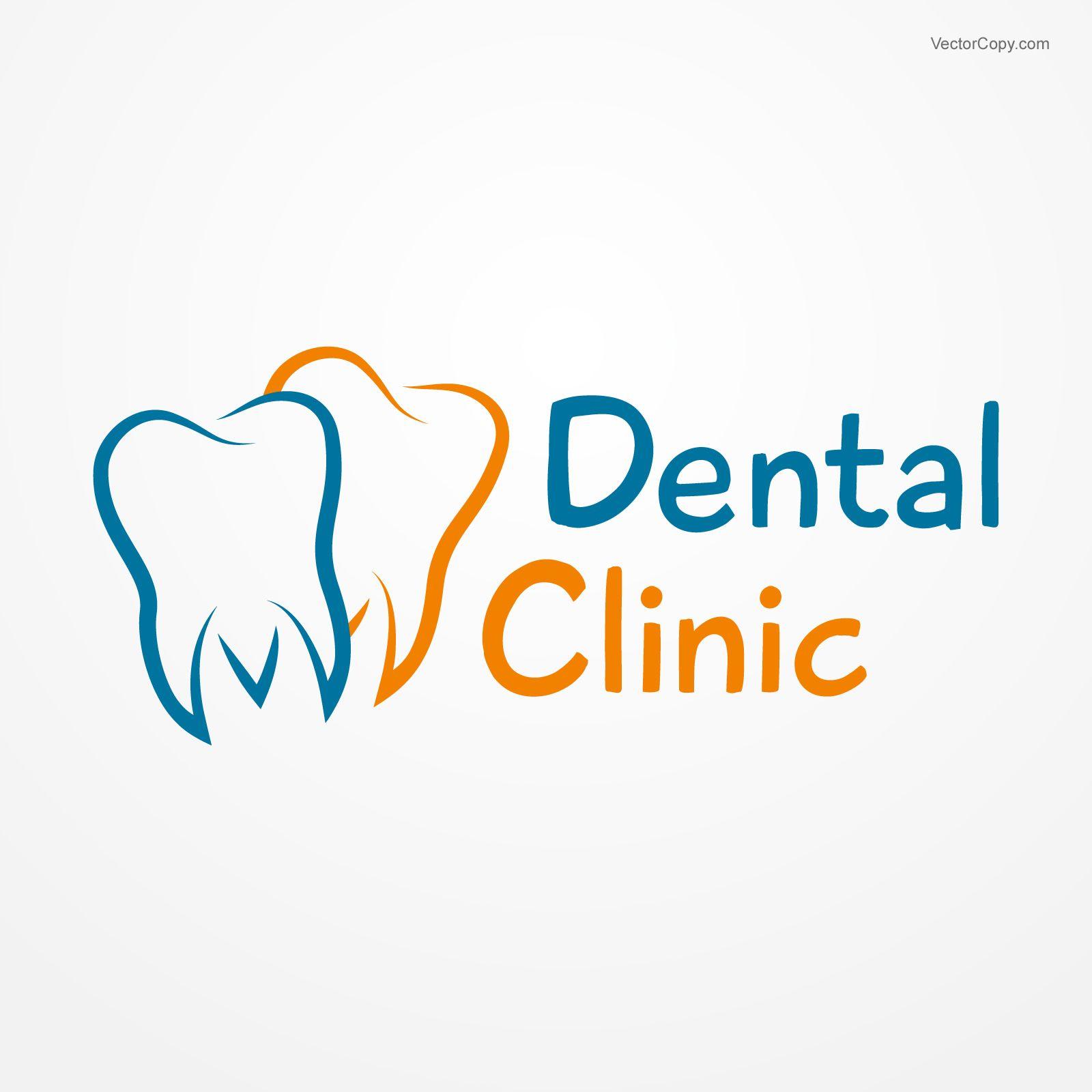 Dental clinic logo, free vector #vectorart #vectorclipart.