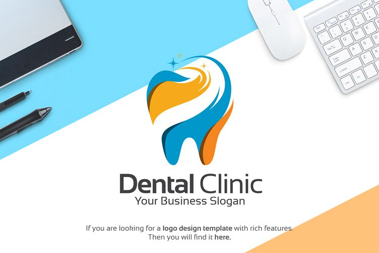 Dental Clinic Logo Template.